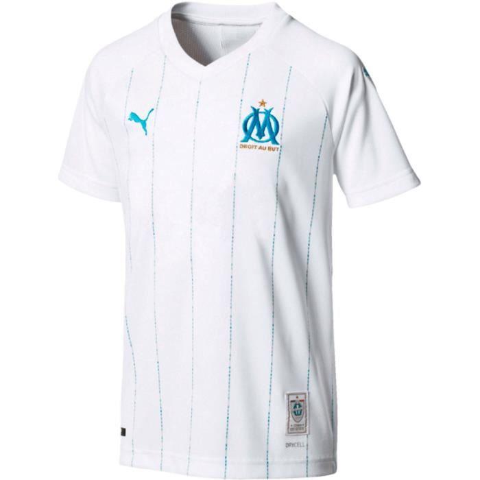 Maillot Olympique de Marseille OM Domicile 2019/2020 Enfant Blanc