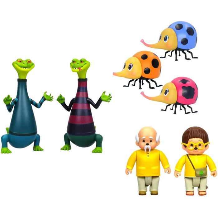 Pack de 7 figurines La tribu des Monchhichi