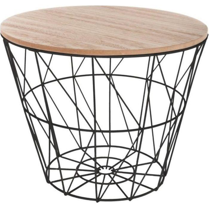 Table d'Appoint Design -Kumi- 30cm Noir