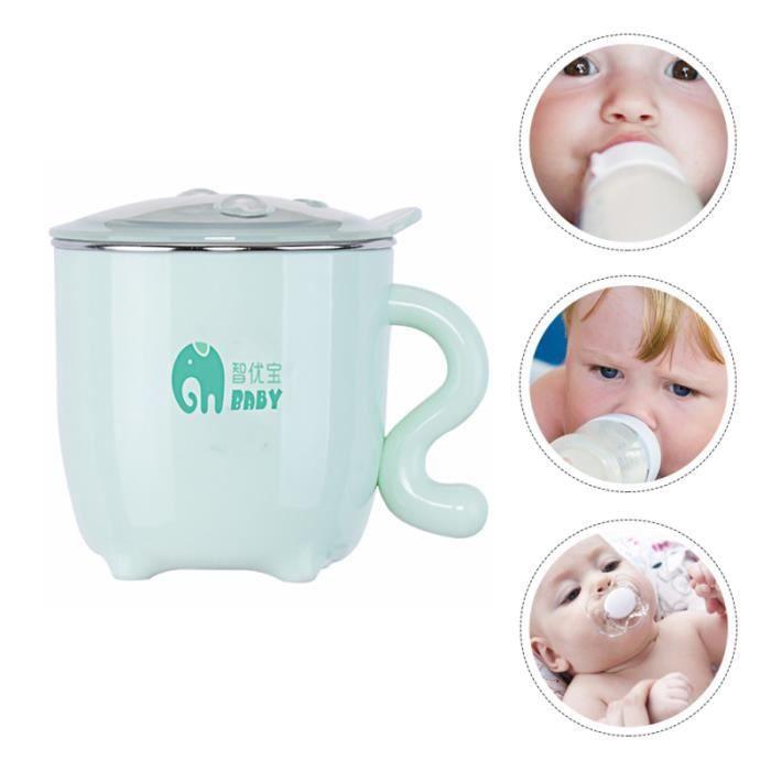 Tasse à boire de l'eau de bébé de tasse à de d'acier inoxydable de lait tasse a bec - gobelet - verre d'apprentissage repas bebe
