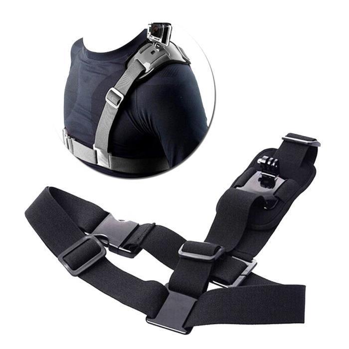 Bandoulière pour Gopro HD Adaptateur de ceinture de harnais thoracique avec fixation à la sangle d'épaule simple pour GoPro