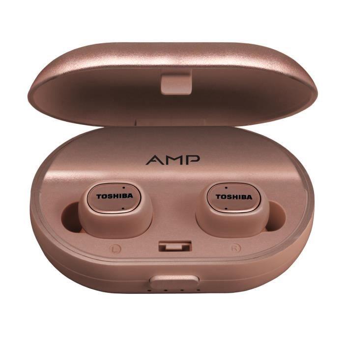 Ecouteurs True Wireless Toshiba RZE-BT900E - Rose Gold