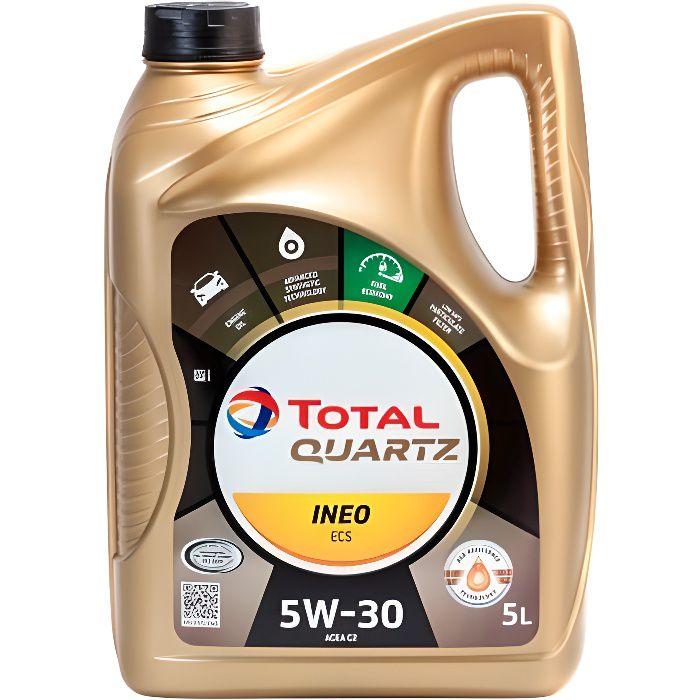 Huile Synthese Total Quartz Ineo Ecs 5W30 5 litres essence et diesel