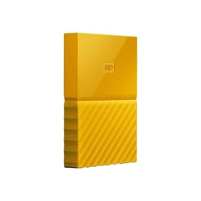 WD - Disque dur Externe - My Passport - 1To - USB 3.0 - Jaune (WDBYNN0010BYL-WESN)