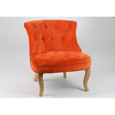 fauteuil crapaud velours orange amadeus achat vente fauteuil orange cdiscount. Black Bedroom Furniture Sets. Home Design Ideas