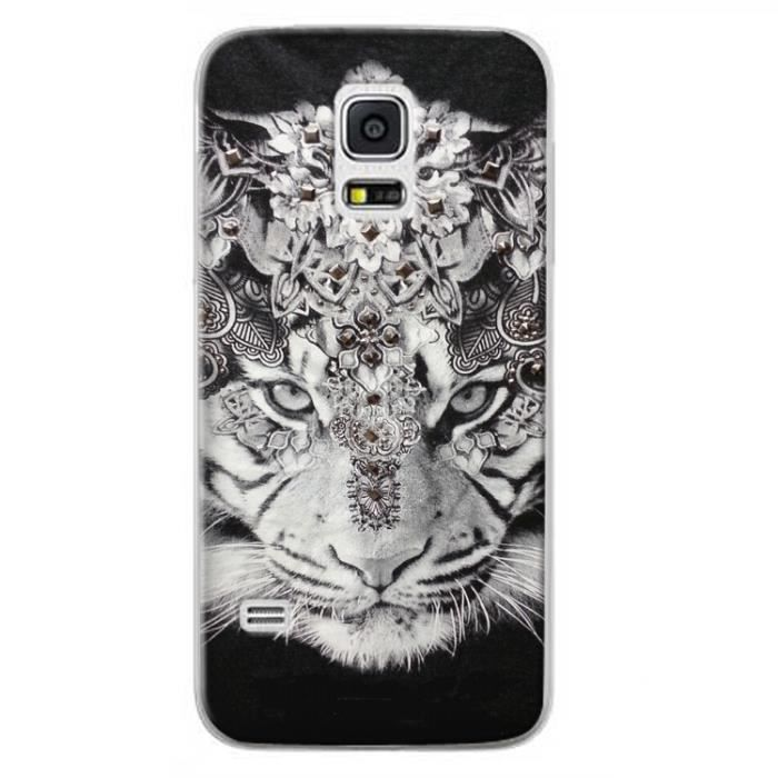coque galaxy s5 mini tigre noir bijoux indien achat. Black Bedroom Furniture Sets. Home Design Ideas