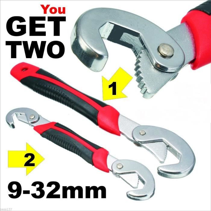 PINCE DE DECOUPE Lot de 2 clés Snap'n Grip 9 à 32 mm Universelles C