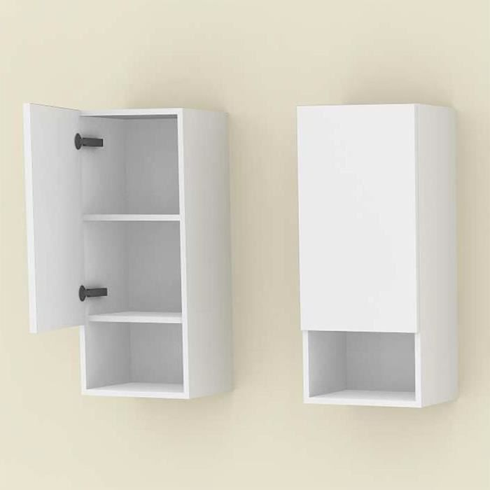 armoire suspendue de salle de bain r versible galaxy blanc 35 profondeur 25 achat. Black Bedroom Furniture Sets. Home Design Ideas