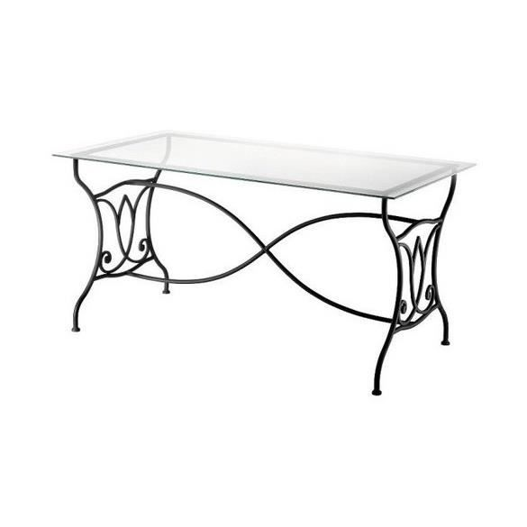 Table en fer forg amandine achat vente table a manger seule table en fer - Table salle a manger en fer forge ...