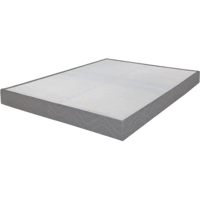 SOMMIER Sommier tapissier 140x190 Omega gris clair 2x16 la