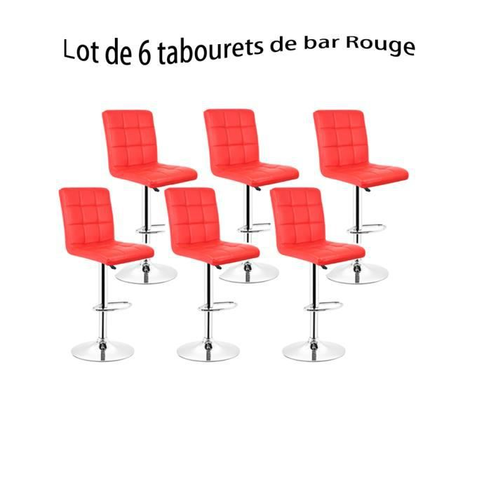 tabouret de bar lot de 6 achat vente pas cher. Black Bedroom Furniture Sets. Home Design Ideas