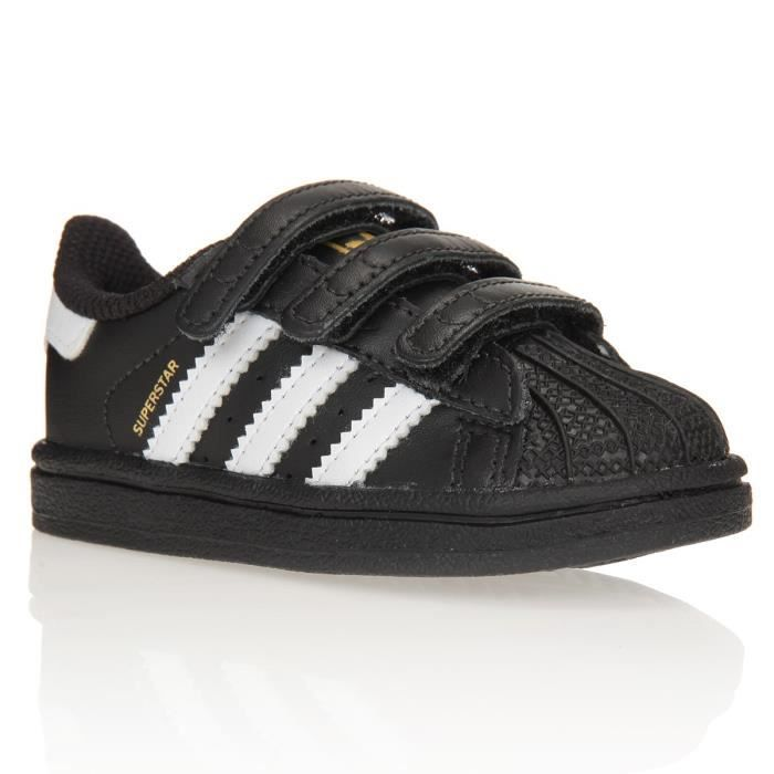 adidas originals baskets superstar b b gar on noir et blanc achat vente basket cdiscount. Black Bedroom Furniture Sets. Home Design Ideas
