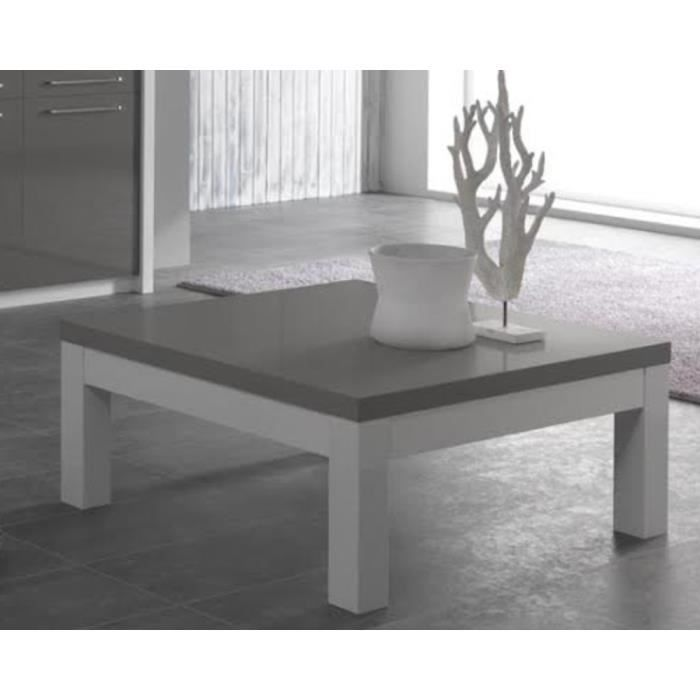 table basse de salon carre fano blanc gris achat vente meuble tv table basse de salon carre. Black Bedroom Furniture Sets. Home Design Ideas