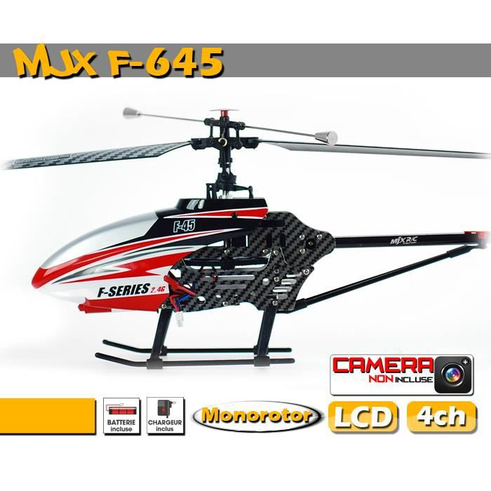 Mjx rc f645 f45 monorotor h licopt re radiocommand for Helicoptere exterieur