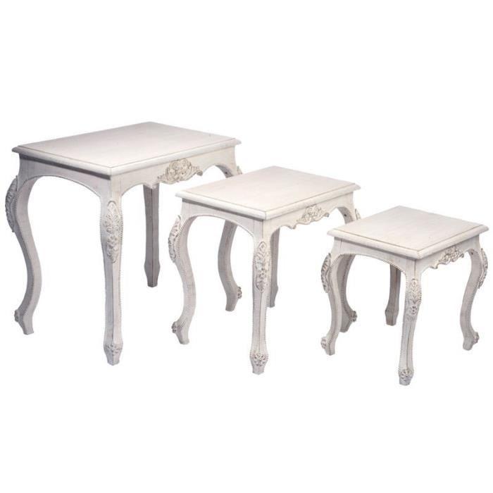 3 Baroque Tables de Antique B… Achat Gigognes Set Bois Okn0P8wX