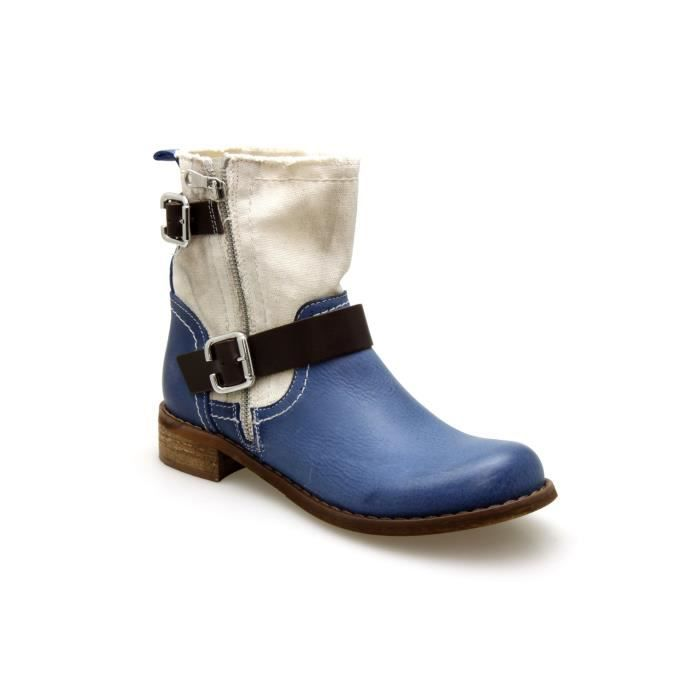 100% authentic great deals shoes for cheap Boots Coco Et Abricot X0001 Bleu Bleu Bleu - Achat / Vente ...
