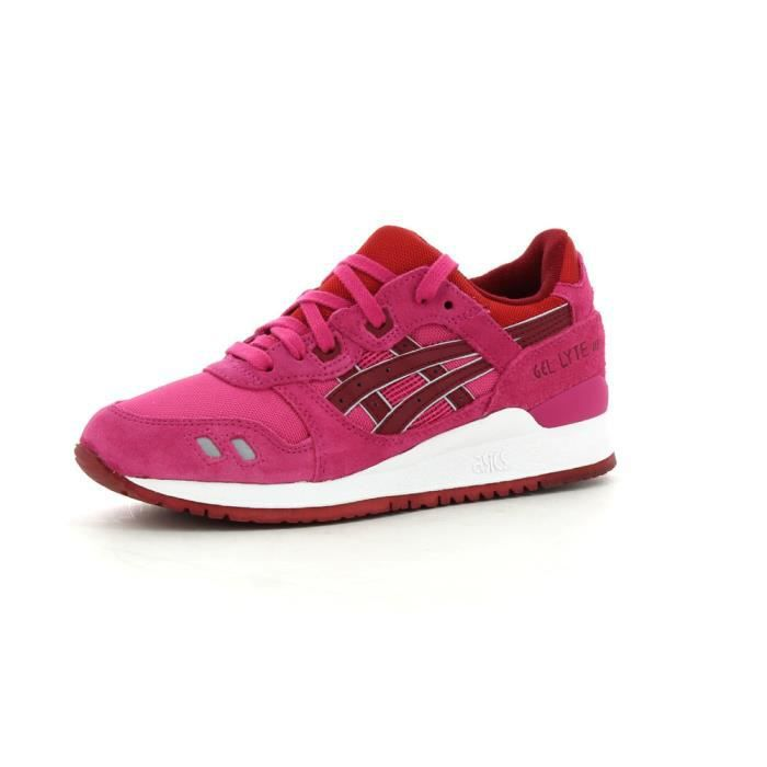 baskets basses asics gel lyte iii femme rose rose achat vente basket cdiscount. Black Bedroom Furniture Sets. Home Design Ideas