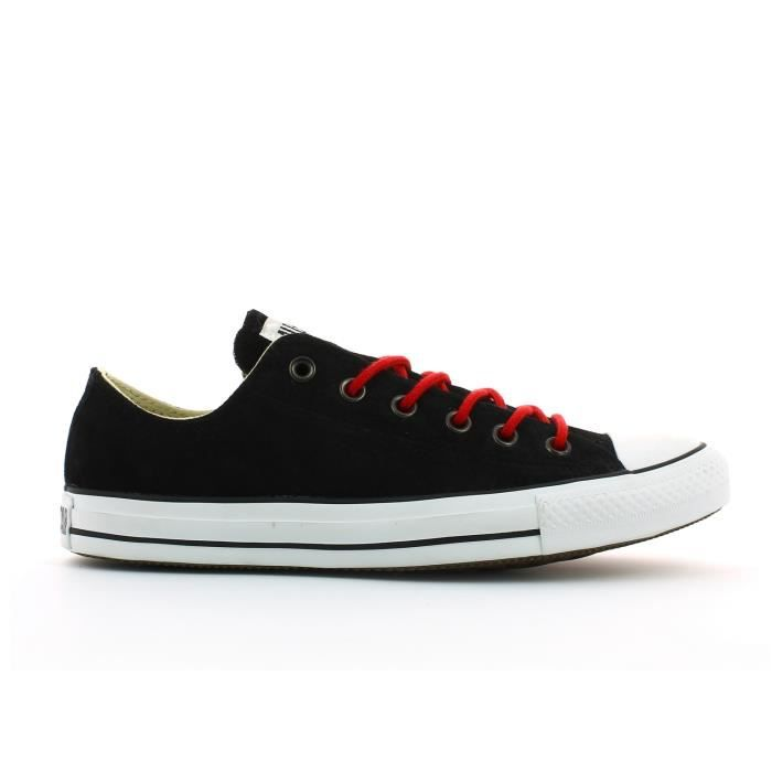 Taylor Basket Chuck All Basse Ox Suede Rouge Noir Star Converse ChsQdtr