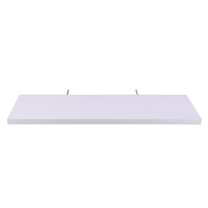 ETAGÈRE MURALE 80cm Etagère de rangement murale flottante blanc