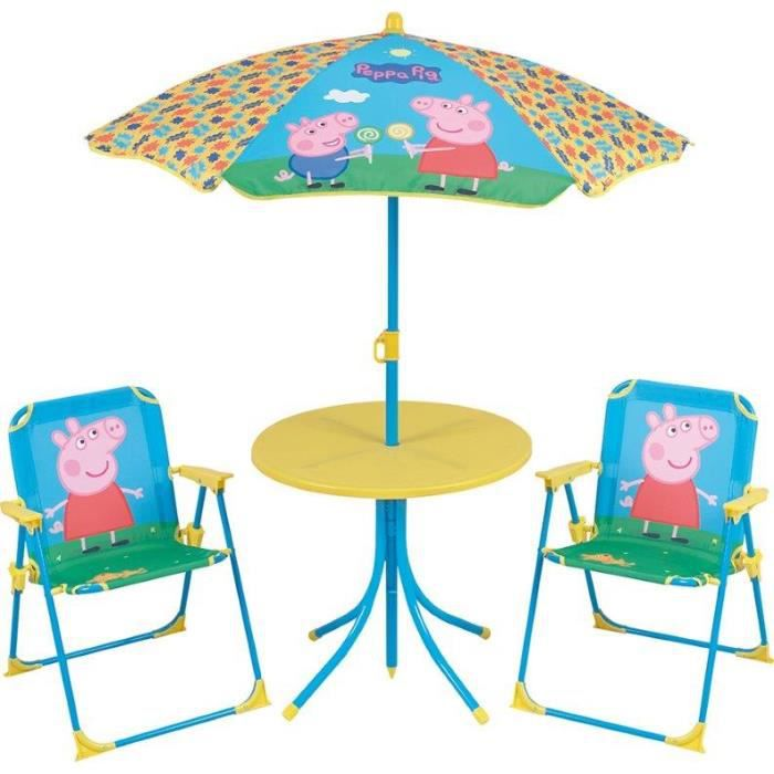 peppa pig set de jardin pour enfant achat vente table et chaise 3700057122638 cdiscount. Black Bedroom Furniture Sets. Home Design Ideas