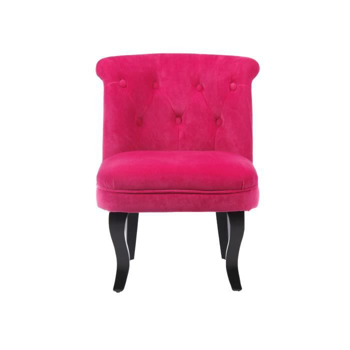 fauteuil crapaud velours rose achat vente fauteuil rose cdiscount. Black Bedroom Furniture Sets. Home Design Ideas