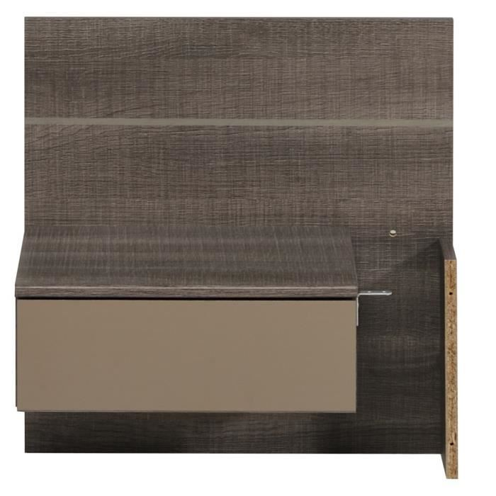 chevet kiem r glisse achat vente chevet chevet kiem r glisse cdiscount. Black Bedroom Furniture Sets. Home Design Ideas