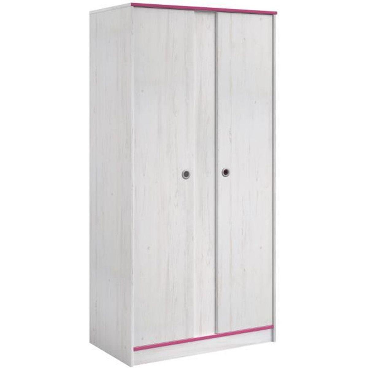Chambre Enfant Bleu Et Rose switch armoire enfant 2 portes décor pin memphis et chants
