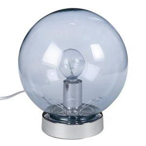 LAMPE A POSER Lampe tactile en verre fumé gris - Ø 18 x H 20 cm
