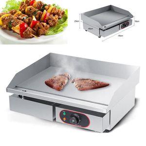PLANCHA DE TABLE Plancha Grille Électrique avec Tiroir Barbecue Pla