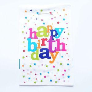 POCHETTE CADEAU Version Happy Birthday - 20 Pcs-Lot Sac Cadeau Béb