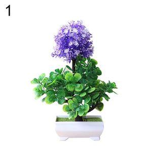 FLEUR ARTIFICIELLE 1 Pc Jardin Décoration Artificielle Bonsaï Plante