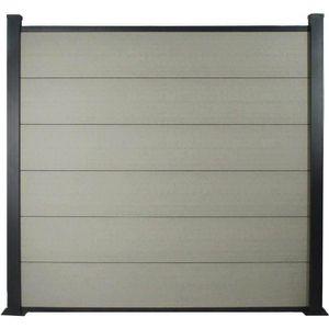 CLÔTURE - GRILLAGE Kit Clôture 8m composite et aluminium - Kit de fix