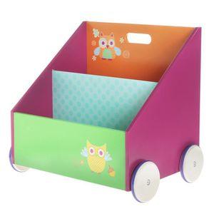 BALANÇOIRE À BASCULE Labebe-Coffre à  jouets bibliothèque en bois meubl