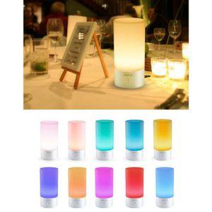 LAMPE A POSER Lampe de chevet LED veilleuse contrôle tactile ave