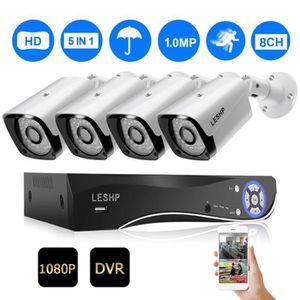 CAMÉRA DE SURVEILLANCE 8CH 1080P caméras HD Waterproof Kit Système AHD Su
