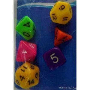 DÉS - JEU DE DÉS lot de 6 dés - jeu multi-faces dés Dés à Jouer Chi