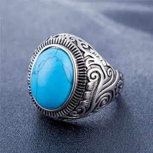 bague homme turquoise pas cher
