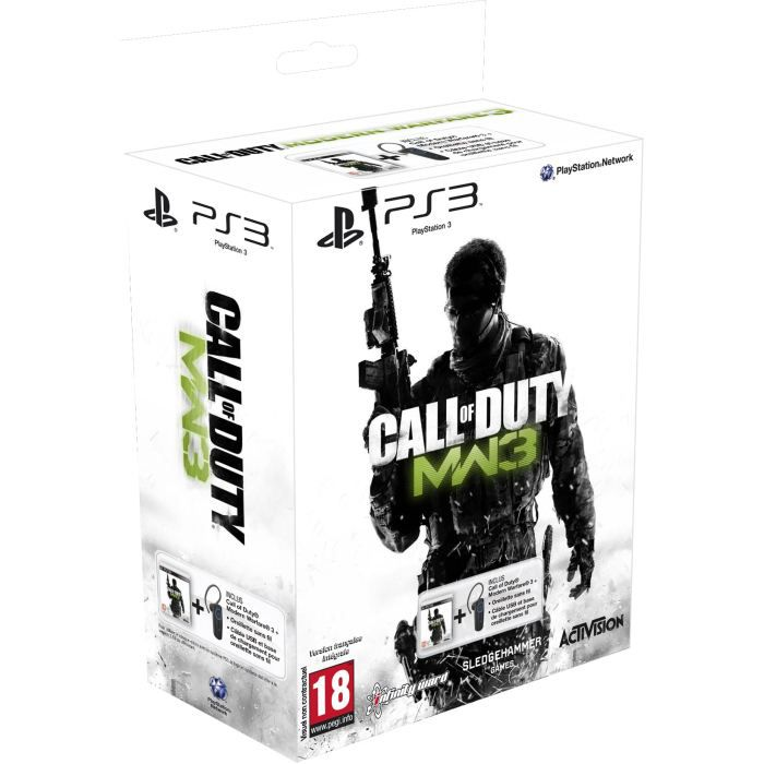 PACK OREILLETTE SANS FIL PS3 + CALL OF DUTY MW3