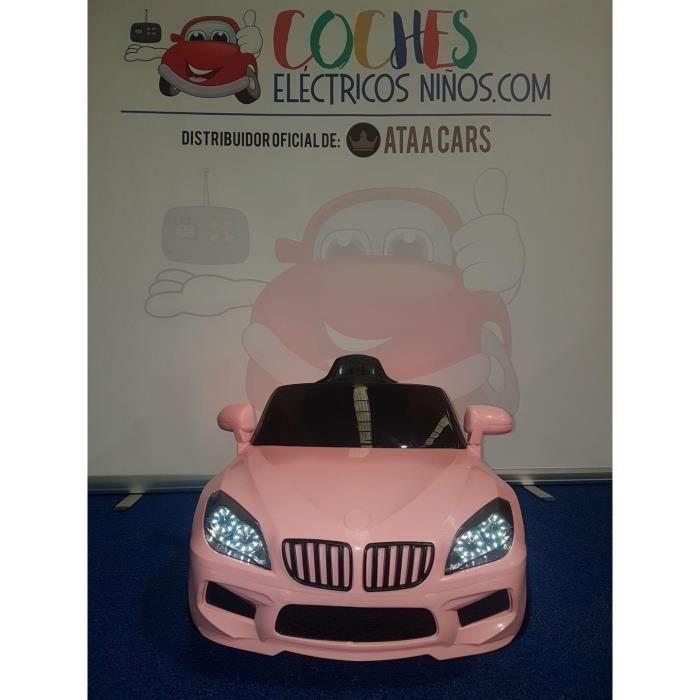 X5 Sedan 12v voiture électrique enfants avec télécommande Rose - Voiture électrique pour enfant avec batterie 12v et télécommande