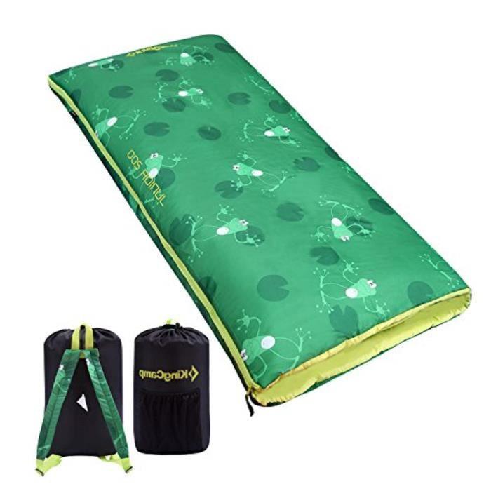 Jeu D'Adresse G3O46 sac de couchage léger pour garçons, jeunes et adolescents, assez doux et confortable pour le camping, la randonn