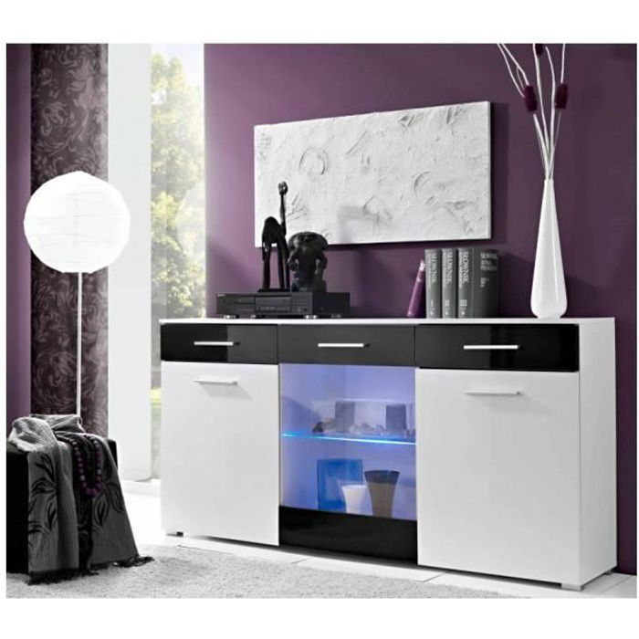 Commode et Buffet Design Noir L1m65 / H83 / P35
