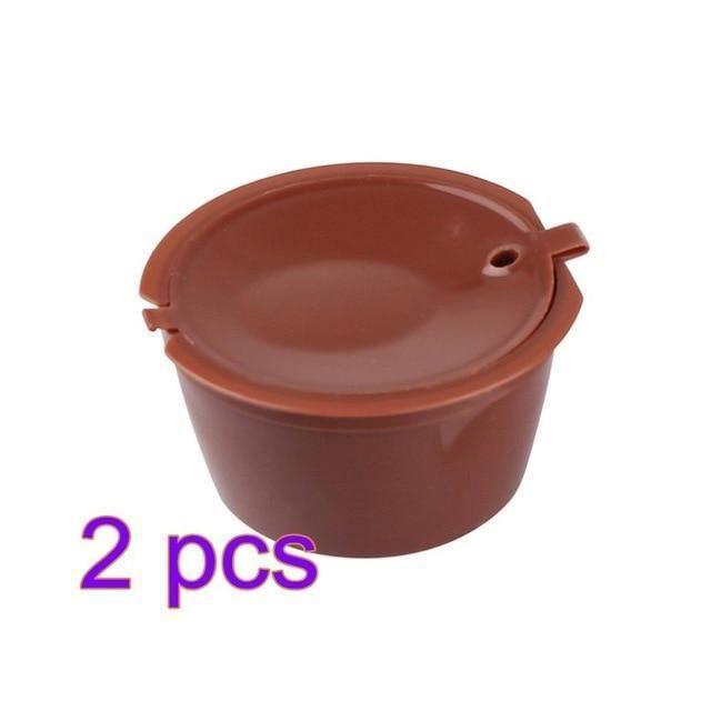 [2 pieces] Cafe capsule de cafe reutilisable pour tous les modeles nescafe dolce gusto paniers filtres rechargeables