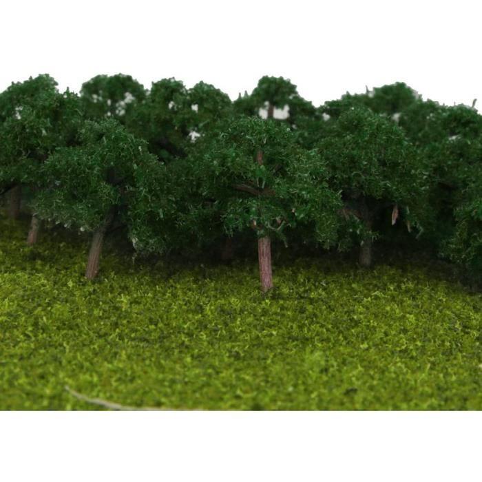 Décor et construction pour modélisme ferroviaire dailymall 25pcs 1-300 Modèle d'arbre Vert Foncé Jouets Mise en Page Tra 190509