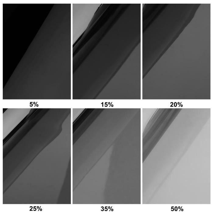 Film de teinte pour vitres de voiture - Noir foncé 50x300cm 5% à 50% rouleau arrière d'été, - Modèle: 20 percentage - ANQCFSYA02147