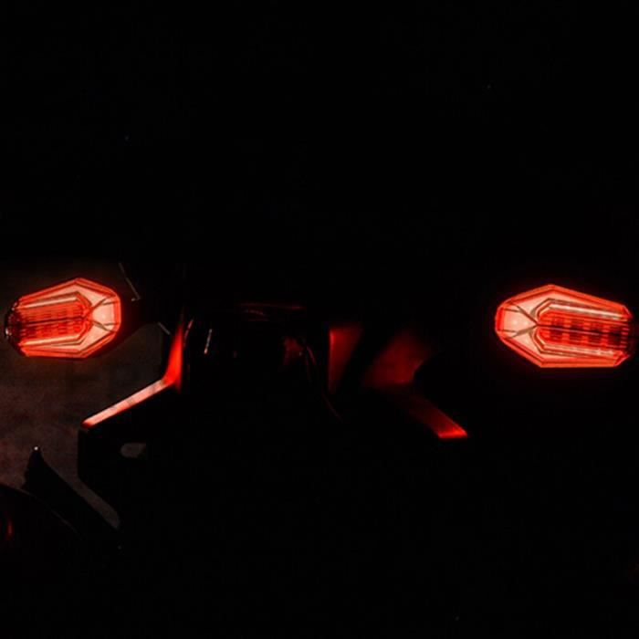 Clignotants de moto, 2 pièces, feux arrière universels étanches, feux de Stop et de freinage pour MSX 125 Red and Yellow -WM1008