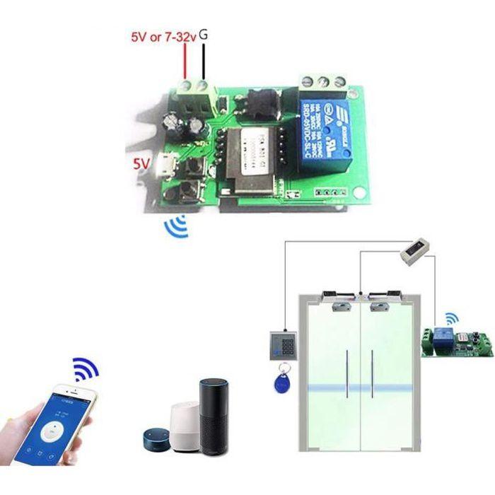 Sonoff 5V 12V 24V 32V Interrupteur Wifi sans fil module de relais Smart Home Automation modules téléphone App télécommande m 1640