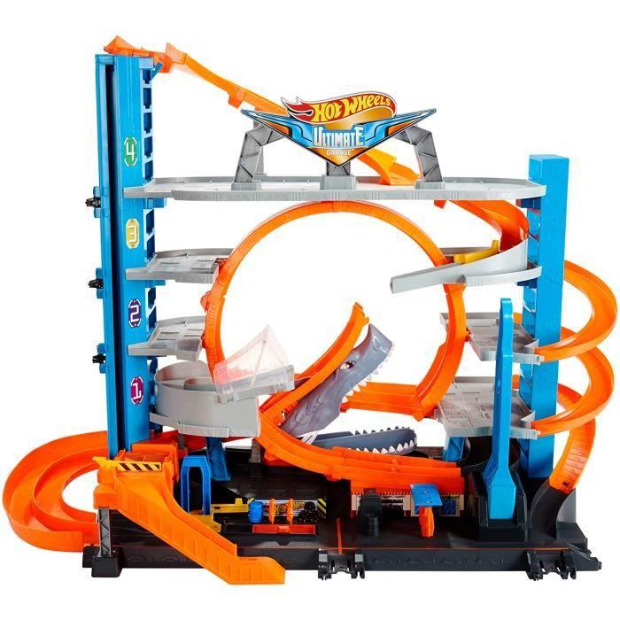 VEHICULE MINIATURE ASSEMBLE ENGIN TERRESTRE MINIATURE ASSEMBLE Hot Wheels City M&eacutega Garage, coffret de jeu pour petites71