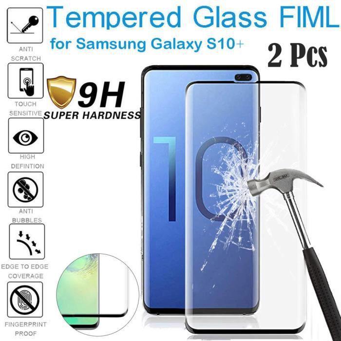 Empreinte digitale d'écran en verre trempé HD pour Samsung Galaxy S10 Plus 6,4 pouces @JBq335