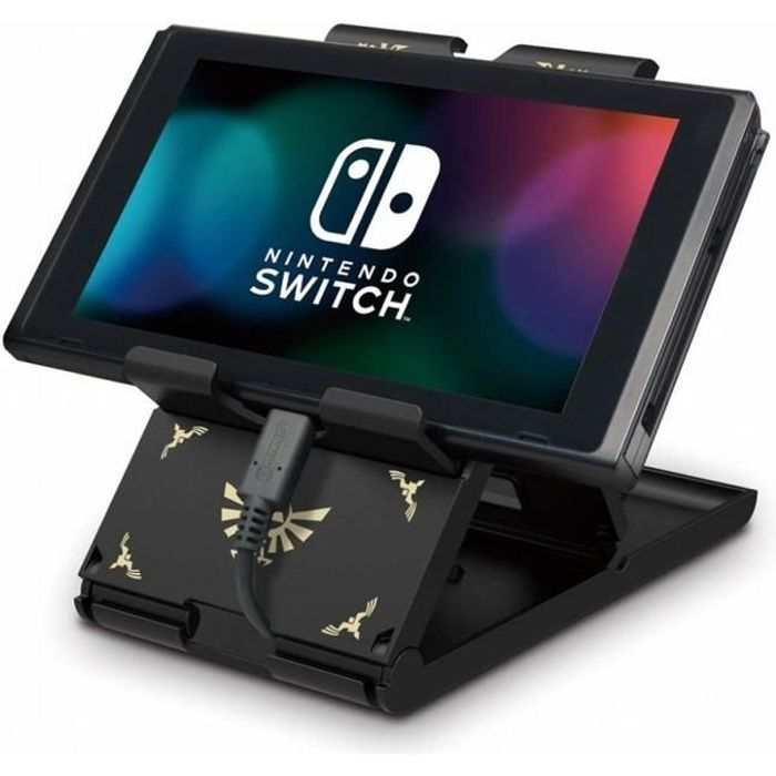 Hori Playstand Zelda - Support Pour Console Nintendo Switch - Design Zelda - Licence officielle Nintendo