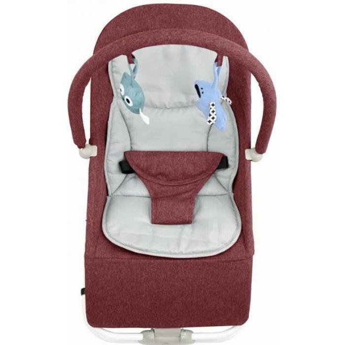 BOUNCER Transat pour bébé de 0 à 6 mois 0-9 kg Rouge